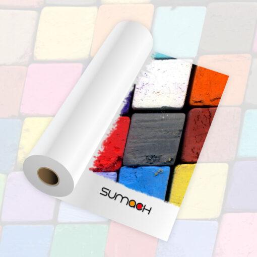 Vinilo blanco brillo Sumach Premium adhesivo permanente 100 mc