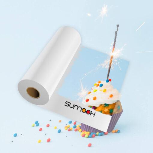 Vinilo blanco brillo blockout Sumach Premium adhesivo permanente 100mc