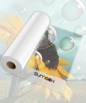 Vinilo transparente brillo Sumach Premium adhesivo permanente 100 mc