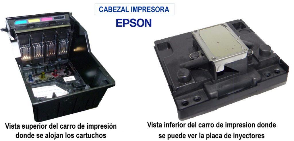 Cabezal de la impresora Epson