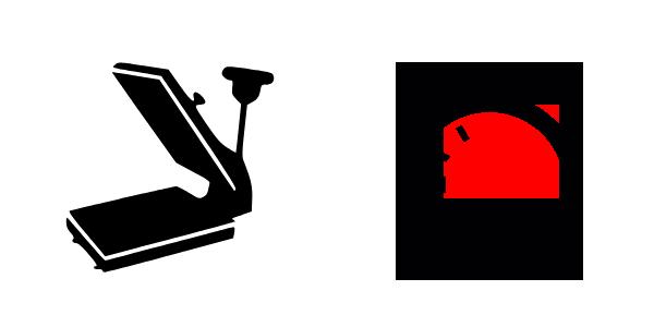 plancha transfer con apertura automática.
