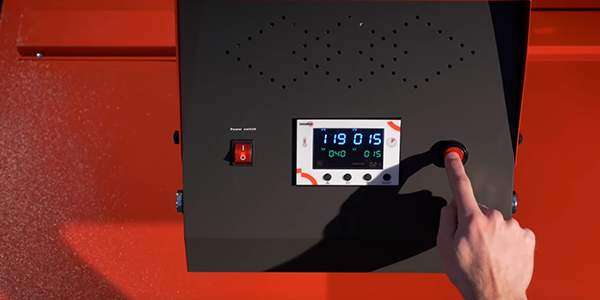 Display de la TP10 Prensa térmica