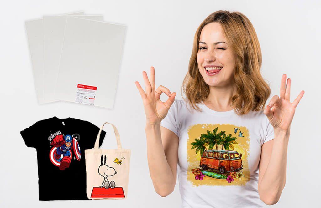 Papel transfer para camisetas