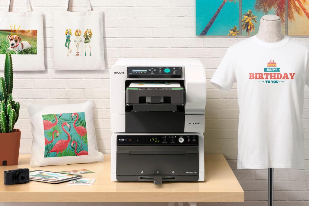 La impresora de camisetas económica: RICOH Ri 100