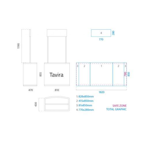 medidas mostrador tavira