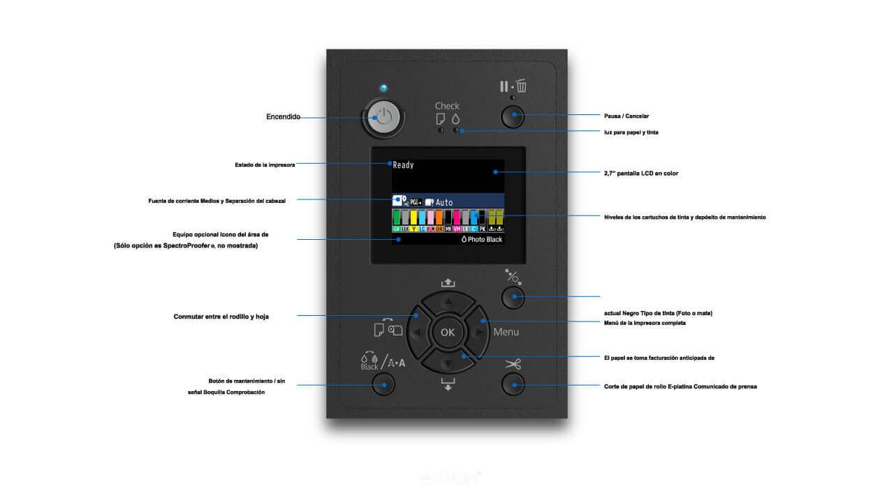 Panel-de-control-Epson-SureColor-P5000