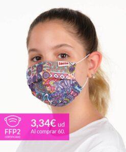mascarilla coronavirus mandala para niños