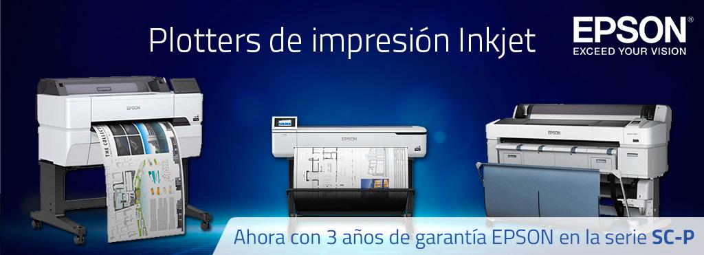 Plotter impresión Inkjet 3 años de garantía