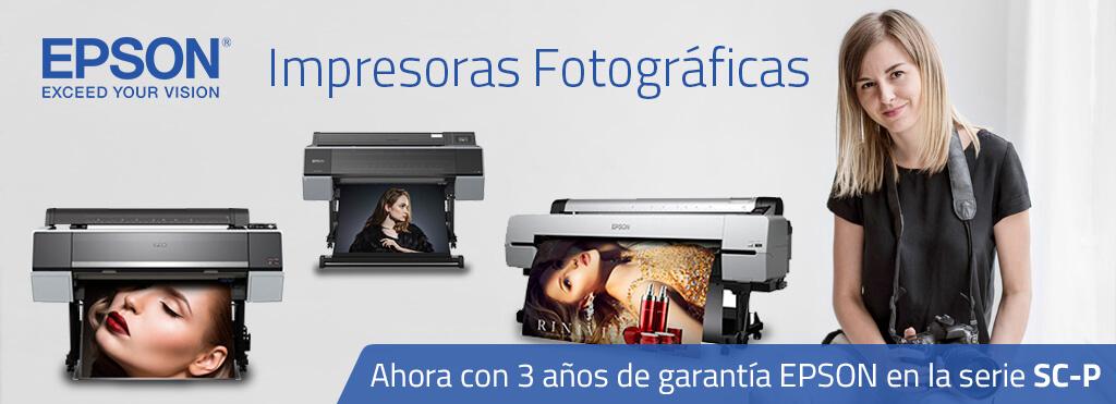 Impresoras Fotográficas Epson 3 años de garantía