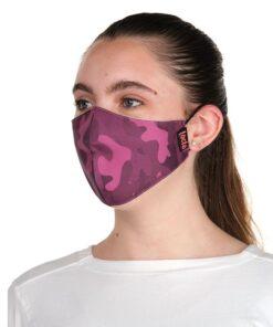 mascara Lacla camuflaje rosa