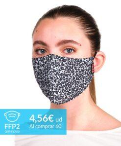 mascarilla coronavirus leopardo negro adulto