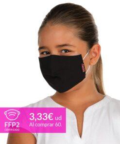 mascarilla coronavirus negra ninos